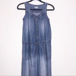 Tractr chambray sleeveless romper size S